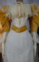 4 antique evening dress 1895