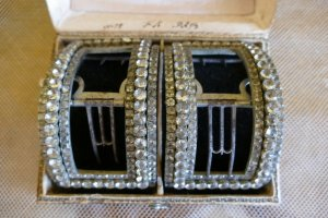 antique baroque shoe buckles 1760