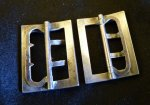 4 antique shoe buckles 1890