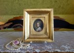12 antique miniature portrait 1770
