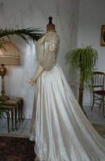 18 antique edwardian wedding dress 1909