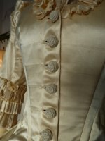 14 antique bustle wedding gown 1879