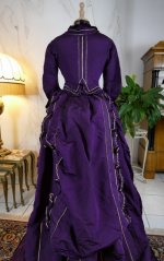 34 antique bustle dress 1874