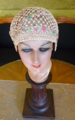 3 antique boudoir cap