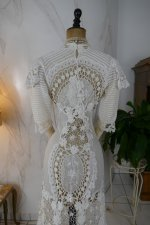 24 antique irish crochet dress 1904