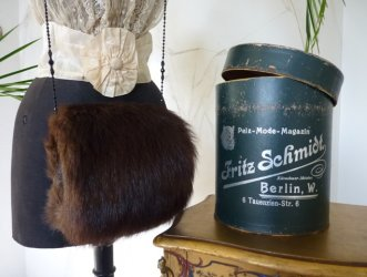 antique fur muff HB