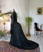 32 antique mourning dress 1879