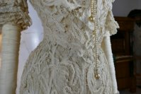 13 antique ALTMANN Battenburg lace dress 1904