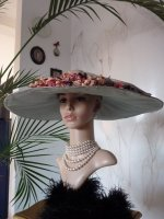 antique hat, antique summer hat, summer hat 1910, hat 1910, antique dress, antique gown, edwardian hat, chapeau ancien