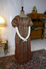 2 antique romantic Period dress 1825