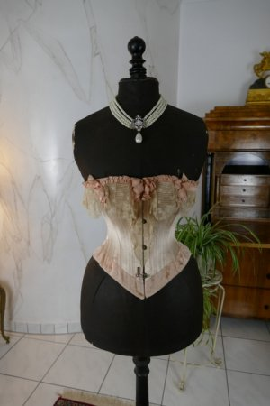 2 antique corset 1880