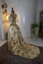 12 antique LEROUX Ball gown 1890