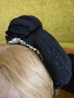 4 antique mourning bonnet
