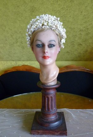 antique wax tiara 1912