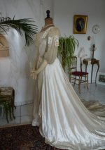 22 antique edwardian wedding dress 1909