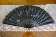 2 antique fan butterflys 1905