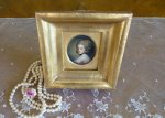 13 antique miniature portrait 1770