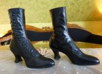 2 antique button boots