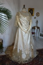 21 antique evening dress WORTH 1898