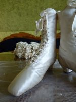 3 antique wedding shoes 1875