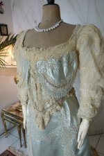 3 antique evening gown Worth 1894