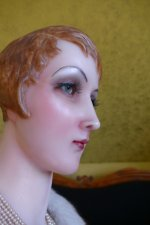 20 antique wax Bust 1920