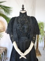 3 antique Worth evening dress 1898