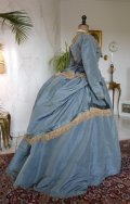 14 antique reception gown 1865