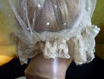 17 antique wedding bonnet 1840