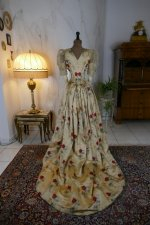 16 antique LEROUX Ball gown 1890