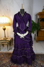 7 antique bustle dress 1874