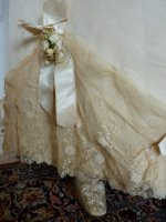13a antique wedding Gown 1895