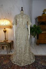 2 antique ALTMANN Battenburg lace dress 1904