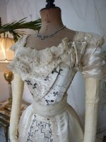 4 antique Ball gown 1890