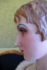 12 antique wax Bust 1920