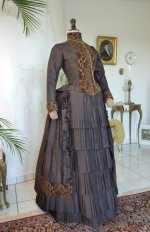 9 antique bustle gown
