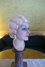 12 antique hair cloche 1920