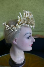 11 antique wax headpiece 1880