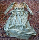 43 antique silk dress 1800
