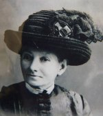 29 antique mourning Hat 1905