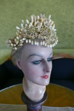 13 antique wax headpiece 1880