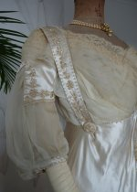 13 antique edwardian wedding dress 1909