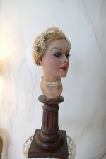 14 antique wax head piece 1920