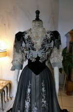 3 antique Gustave Beer gown 1906