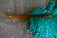 7 antique feather fan 1920