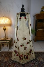 16 antique bustle dress 1880