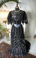 antique dress, antique gown, gown 1904, dress 1904, antique ball gown, antique evening gown, robe ancienne