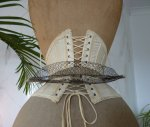 7 antique wire bustle pad