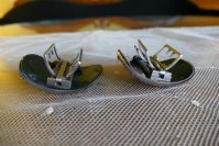 8 antique shoe buckles 1860