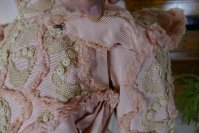 40a antique Rousset Paris society dress 1899